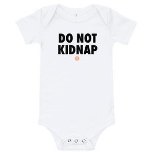 ClickHole's 'DO NOT KIDNAP' Onesie White / 18-24m from The Onion Store