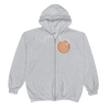 ClickHole Swirl Zip-Up Hooded Sweatshirt Heather Grey / 2XL from The Onion Store