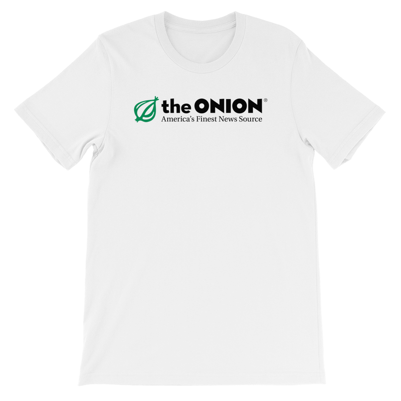 The Onion's 'Classic Logo' T-Shirt White / 4XL from The Onion Store