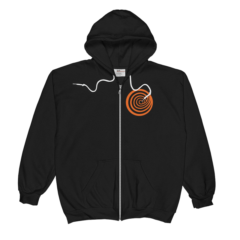 ClickHole Swirl Zip-Up Hooded Sweatshirt Black / 2XL from The Onion Store