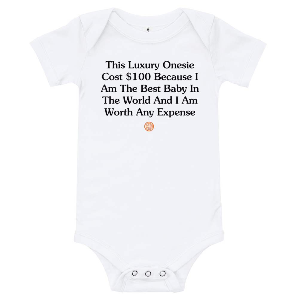 ClickHole Luxury Onesie White / 18-24m from The Onion Store