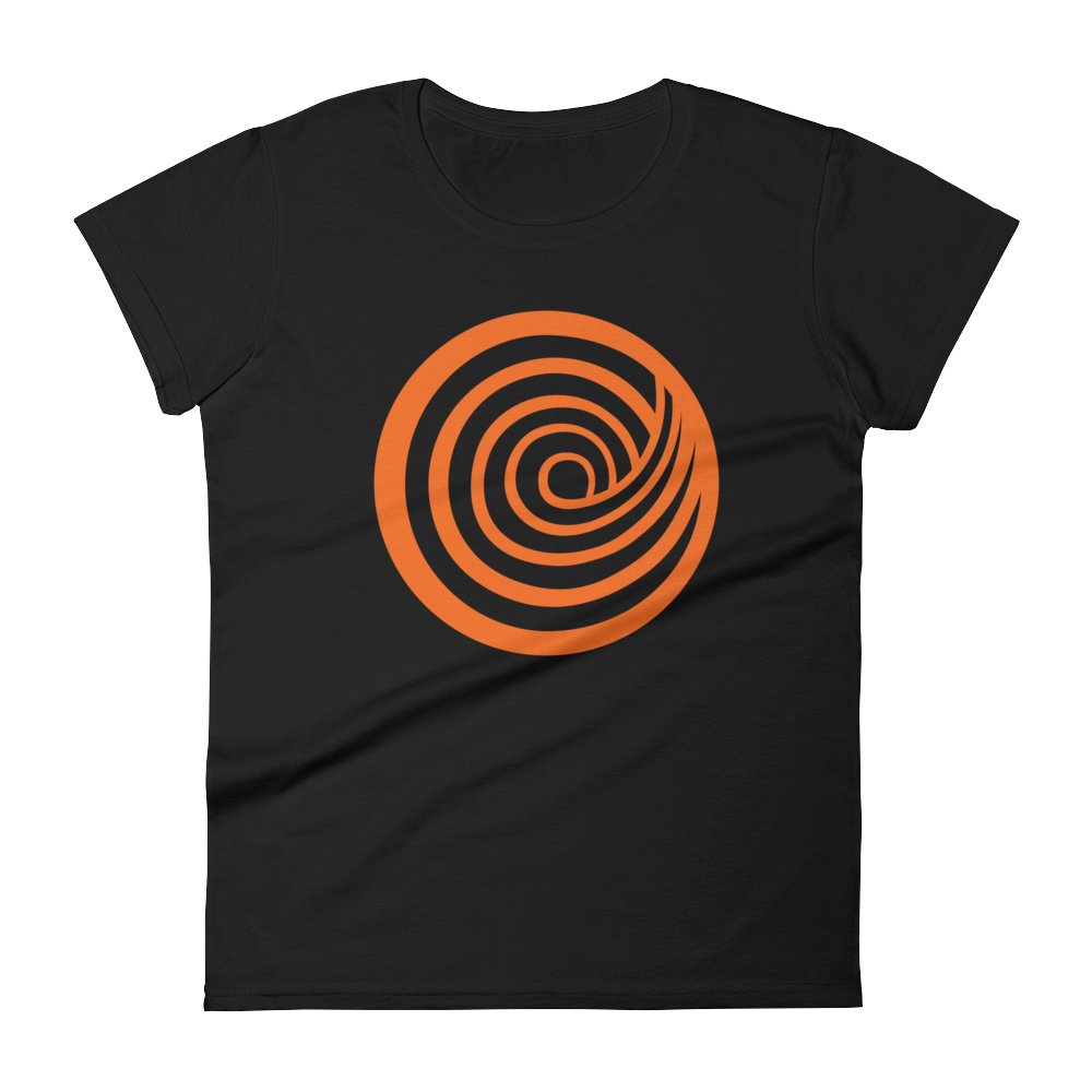 'Giant ClickHole Swirl' Women's Cut T-Shirt from ClickHole Black / 2XL from The Onion Store