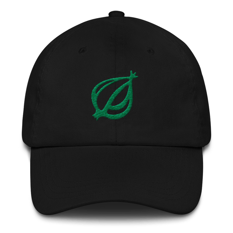 The Onion Dingbat Baseball Dad Hat Black and Green from The Onion Store