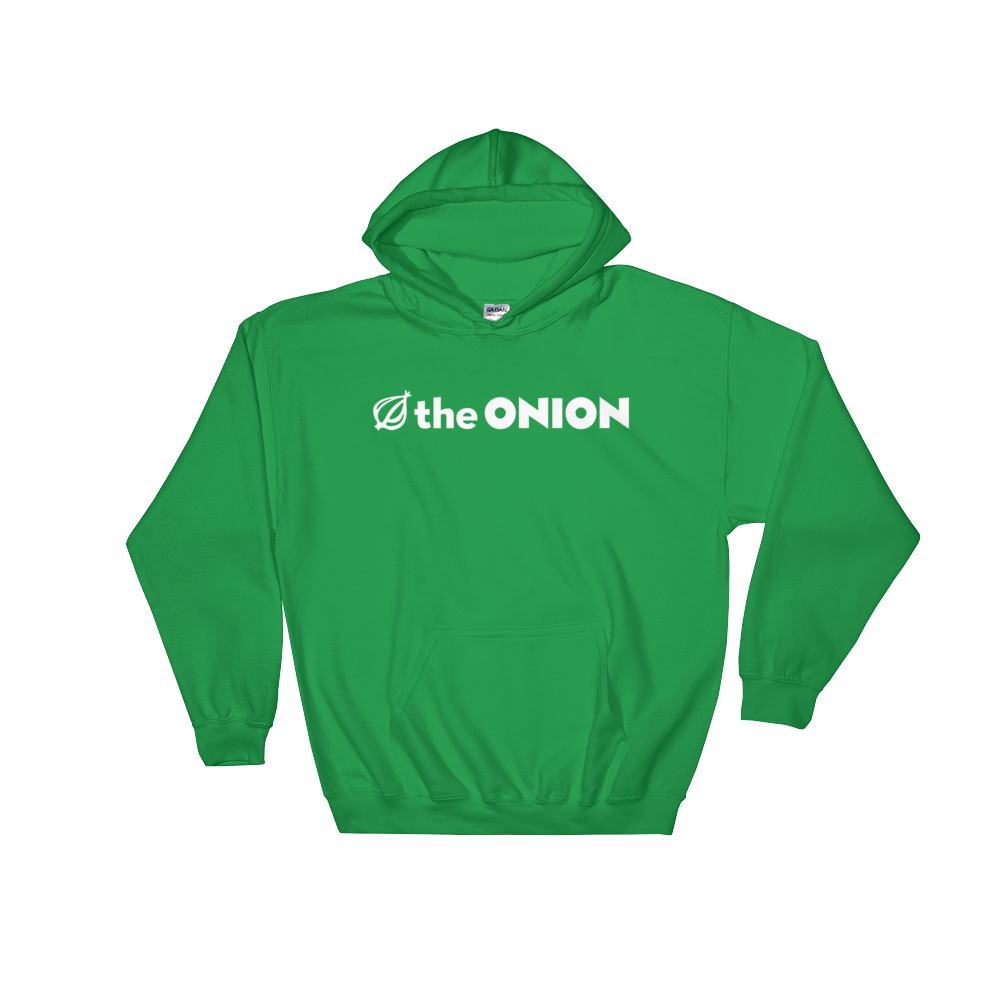 The Onion Logo Hooded Sweatshirt Irish Green / 2XL from The Onion Store