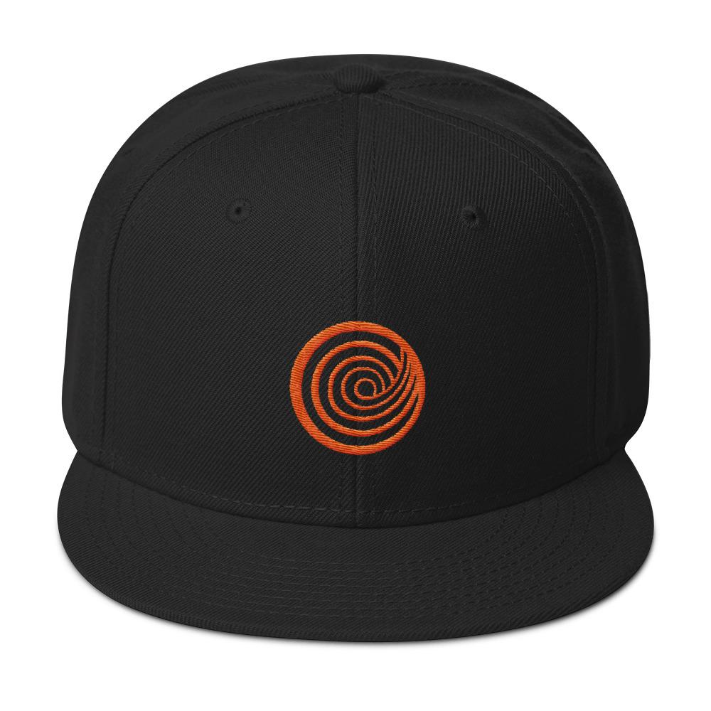 The ClickHole Swirl Baseball Hat Black from The Onion Store