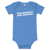 ClickHole's 'REINCARNATION OF JAMES GANDOLFINI' Onesie Heather Columbia Blue / 18-24m from The Onion Store
