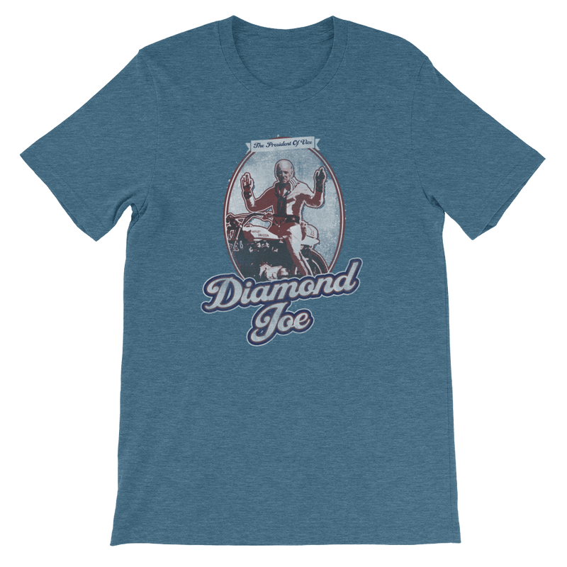 The Onion's Official Diamond Joe Biden Shirt Heather Deep Teal / 4XL from The Onion Store