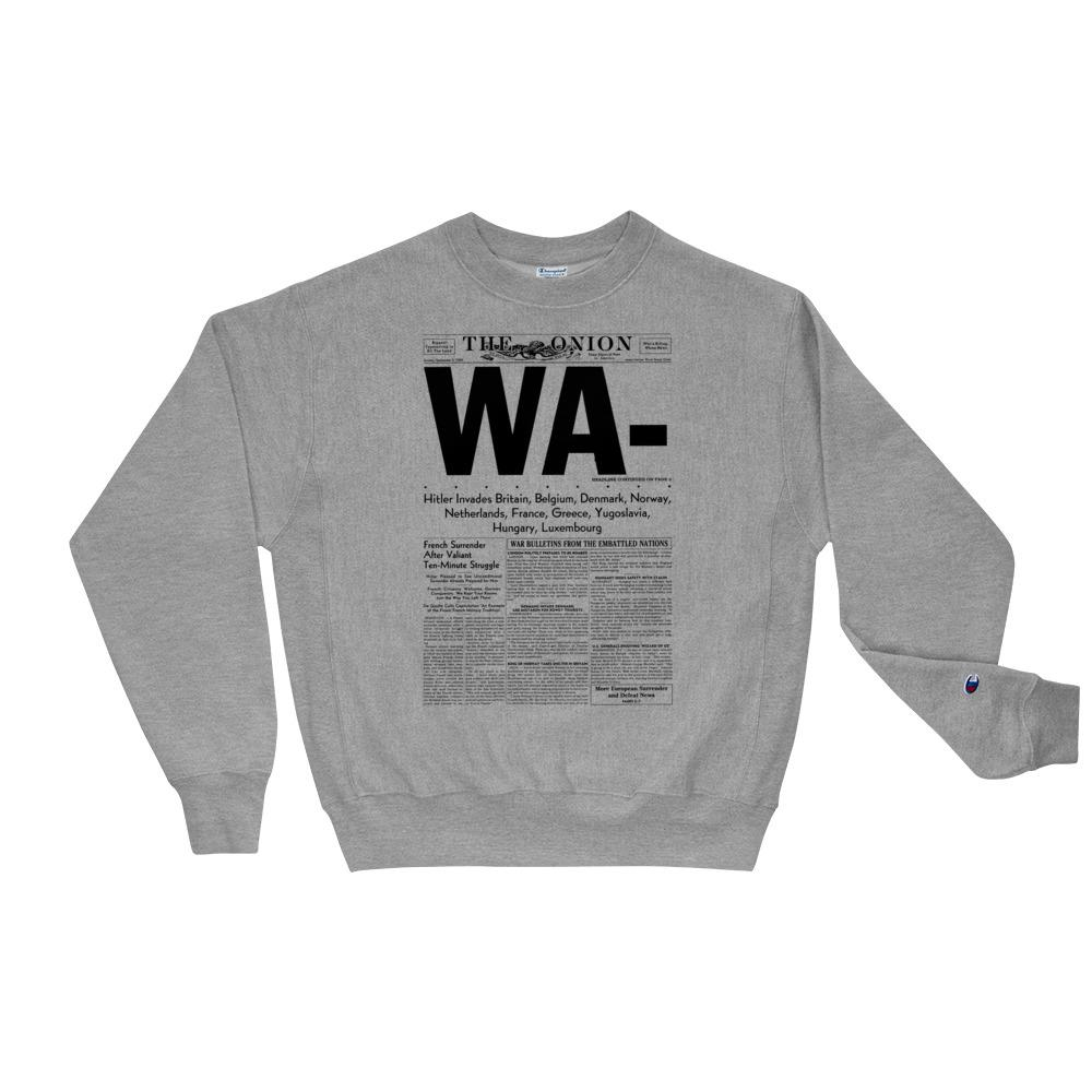 The Onion's 'WA-' Premium Crewneck Sweatshirt by Champion