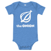 The Onion Logo Onesie Heather Columbia Blue / 18-24m from The Onion Store