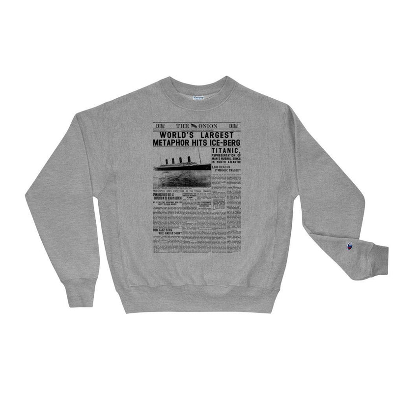 The Onion's 'World's Largest Metaphor' Premium Crewneck Sweatshirt by Champion