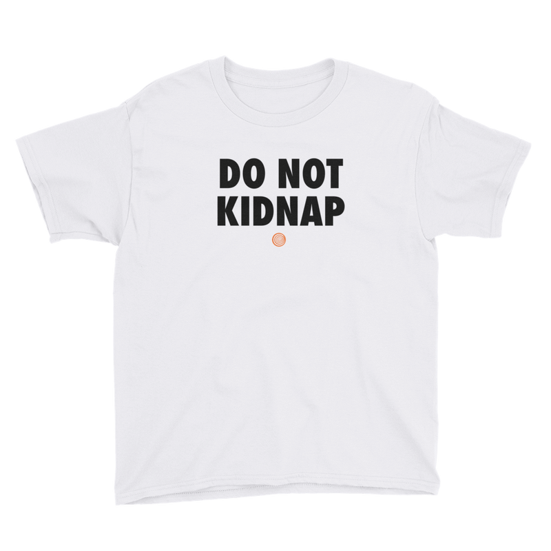 ClickHole's 'DO NOT KIDNAP' Kids T-Shirt White / XL from The Onion Store