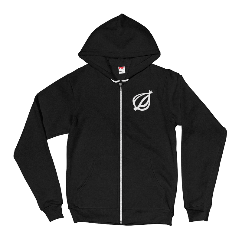 America's Finest Zip-Up Hooded Sweatshirt Black / 2XL from The Onion Store