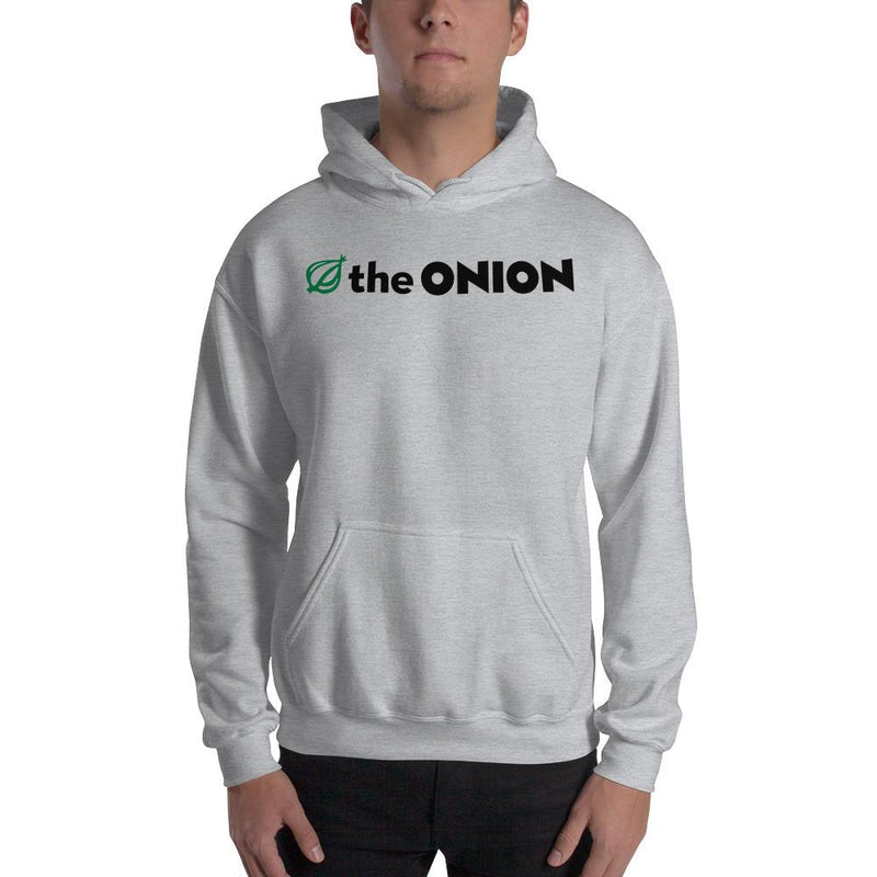 The Onion Logo Hooded Sweatshirt Sport Grey / 5XL from The Onion Store