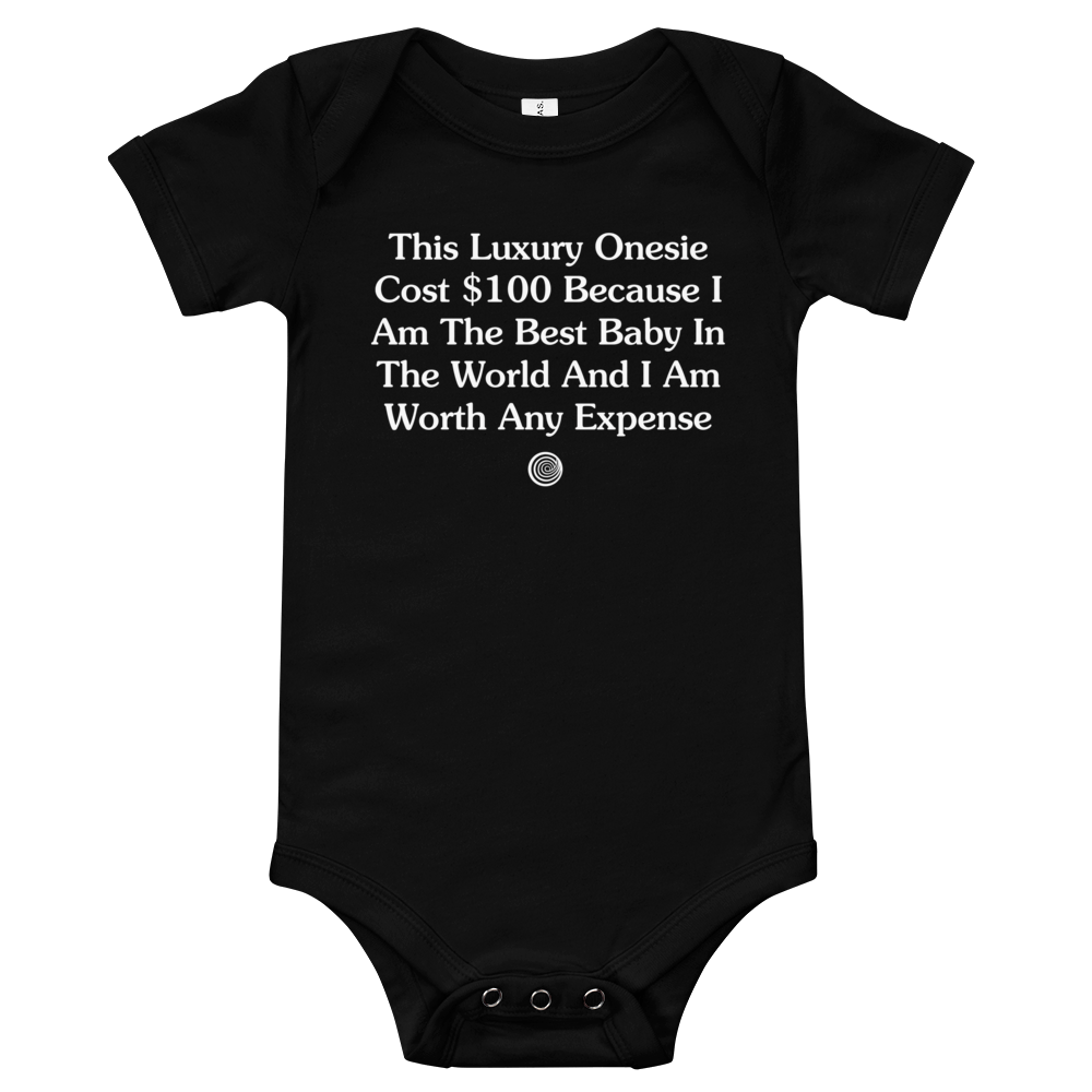 ClickHole Luxury Onesie Black / 18-24m from The Onion Store