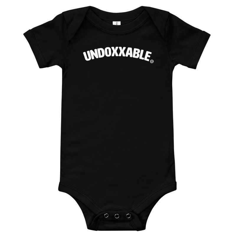 ClickHole's 'Undoxxable' Onesie Black / 18-24m from The Onion Store