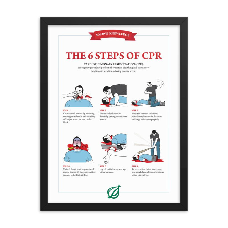Framed CPR Poster from The Onion's 'Book of Known Knowledge' 18×24 from The Onion Store