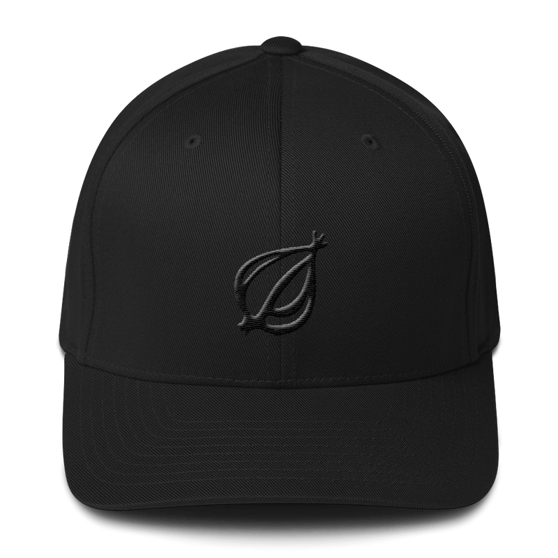 America's Favorite Black Embroidered Black Twill Cap L/XL from The Onion Store