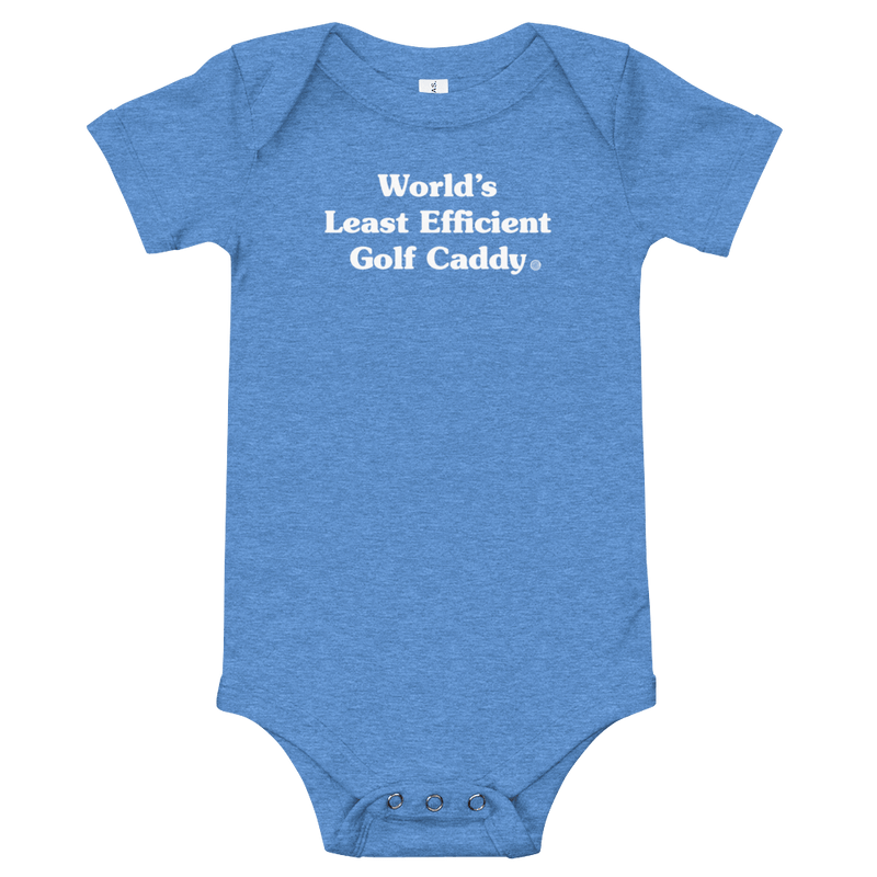 ClickHole's 'World's Least Efficient Golf Caddy' Onesie Heather Columbia Blue / 18-24m from The Onion Store