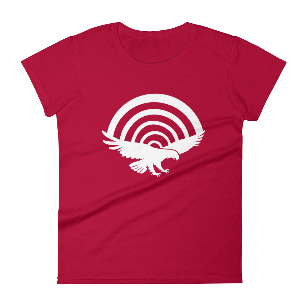 PatriotHole Logo Women's Cut T-Shirt Red / 2XL from The Onion Store