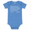 'I Wish My Parents Would Stop Emailing Naked Pictures of Me To Their Friends' Onion Headline Infant Onesie Heather Columbia Blue / 18-24m from The Onion Store