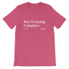 Bra Training Complete Onion Headline T-Shirt Heather Raspberry / 4XL from The Onion Store