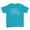 'Kid Not Getting In Strange Van' Onion Headline Kid T-Shirt Caribbean Blue / XL from The Onion Store
