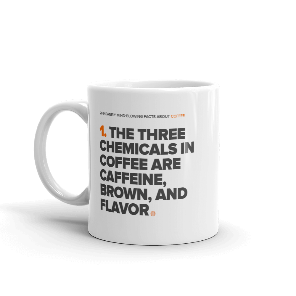 ClickHole's 'Three Chemicals' Coffee Facts Mug  from The Onion Store