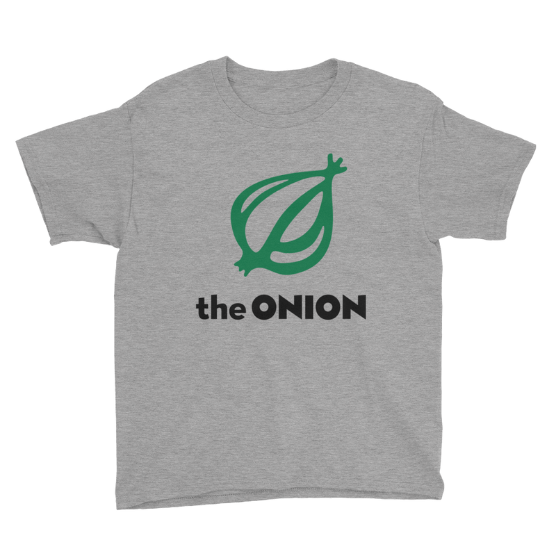 The Onion Logo Kid's T-Shirt Heather Grey / XL from The Onion Store