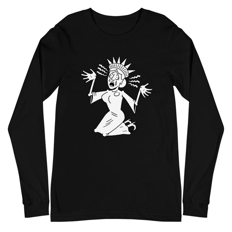 Lady Liberty: Patriotic Panic Long Sleeve Tee