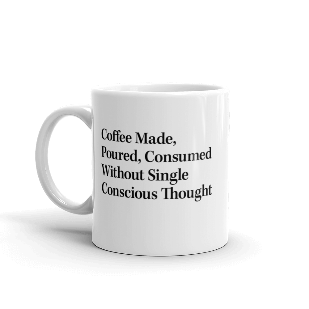 Coffee Made Without Conscious Thought