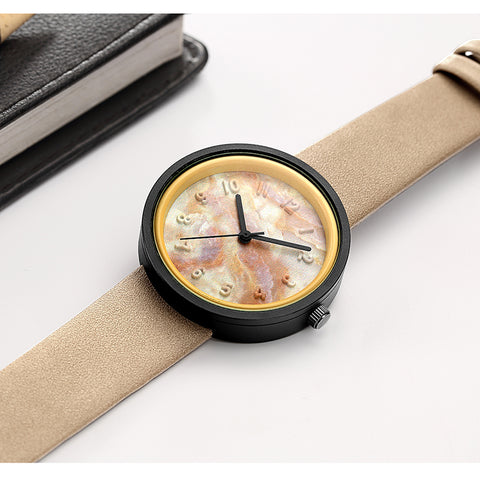 Marble Carving Fashion Watch