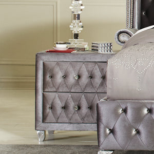 Sven & Son Premium Grey Tufted 5pc Furniture Complete Set