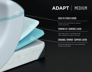 TEMPUR-Adapt Medium Hybrid ™