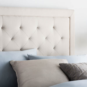 Rectangle Diamond Tufted Upholstered Headboard Full Atlantic