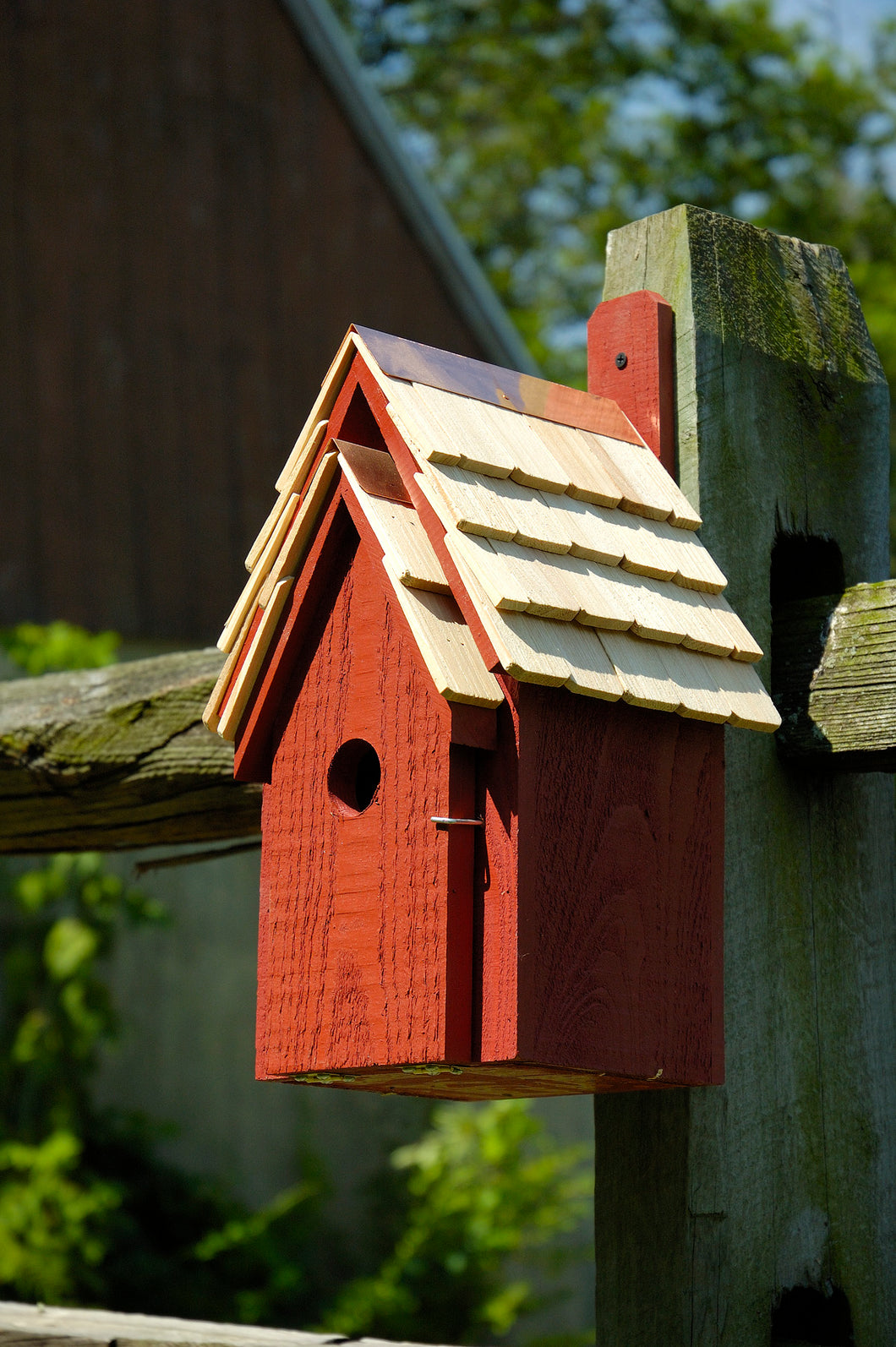 Bluebird Manor Birdhouse Redwood