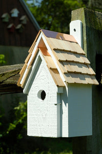 Bluebird Manor Birdhouse White