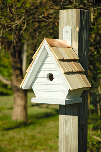 CHICK BIRDHOUSE Whitewash