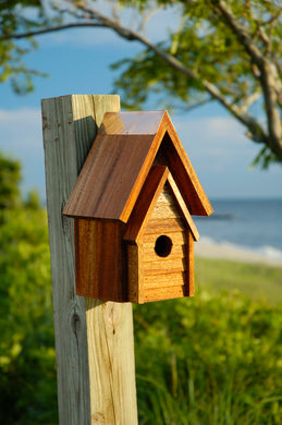 Wrental Birdhouse Mahogany