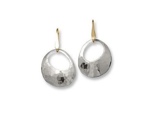 Sterling Silver and 14K Medium Olive Earring