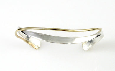 Sterling Silver and Gold Filled Cuff