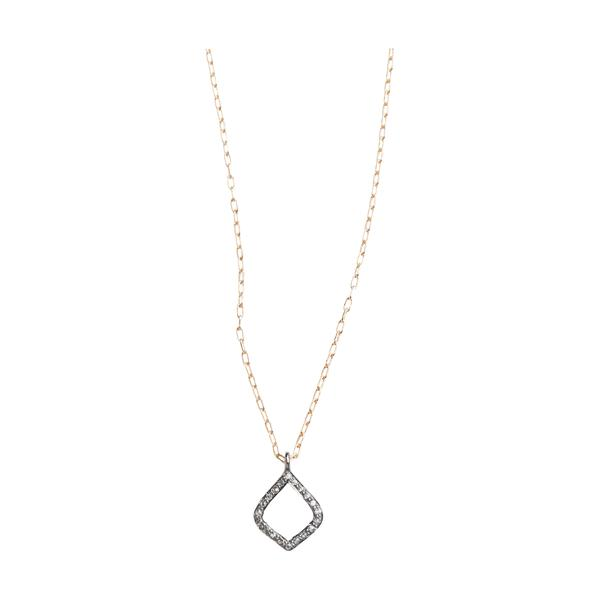 Arabesque Pave Set Diamond Pendent Necklace
