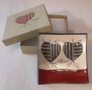 Small Porcelain Heart Tray in Box
