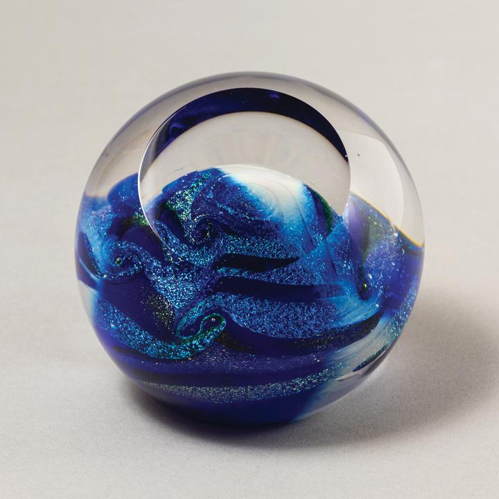 Celestial Paperweight Blue Planet