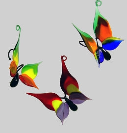 Tri-color Butterfly Ornament