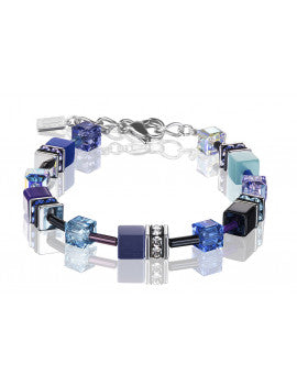 Purple and Turquoise Swarovski Crystal Bracelet