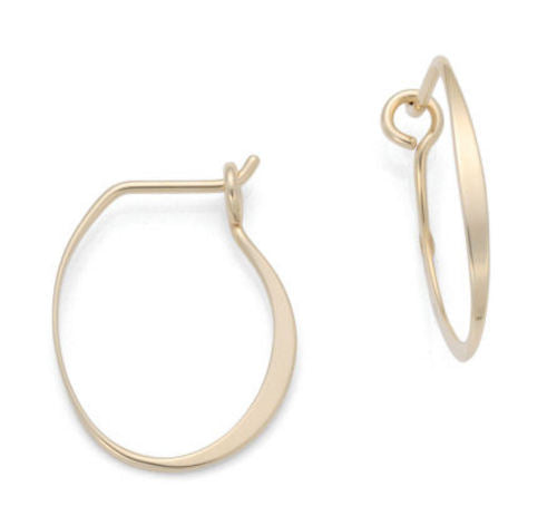 Ear, 14K Medium Oliva Hoop