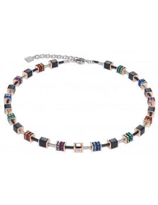 Necklace With Multicolored Rhinestone Rondells