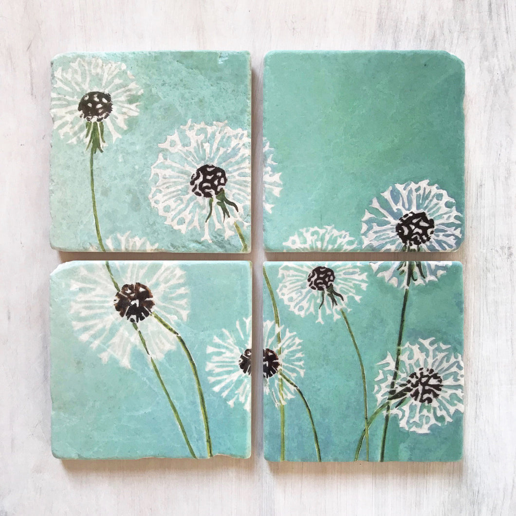 Coaster Set 4, Dandelion