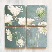 Load image into Gallery viewer, Queen Anne's Lace Coaster Set