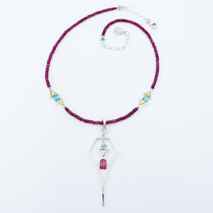 Rhodolite and Apatite Necklace